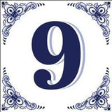 House Numbers Tile Blue and White - GermanGiftOutlet.com  - 9