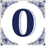 House Numbers Tile Blue and White - GermanGiftOutlet.com  - 10