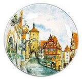 Collectible Plate European Village Color - DutchGiftOutlet.com - 1