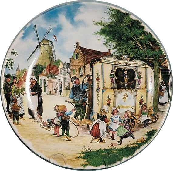 Collector Plates Dutch Organ Grinder Color - GermanGiftOutlet.com