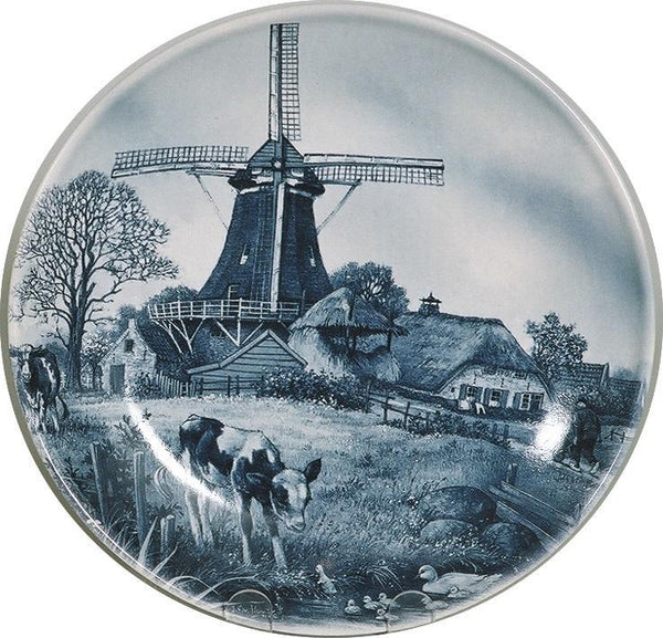 Collectible Plate Spring Scene Blue - DutchGiftOutlet.com