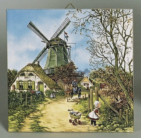 Collectible Dutch Tile Four Seasons Fall Color - GermanGiftOutlet.com