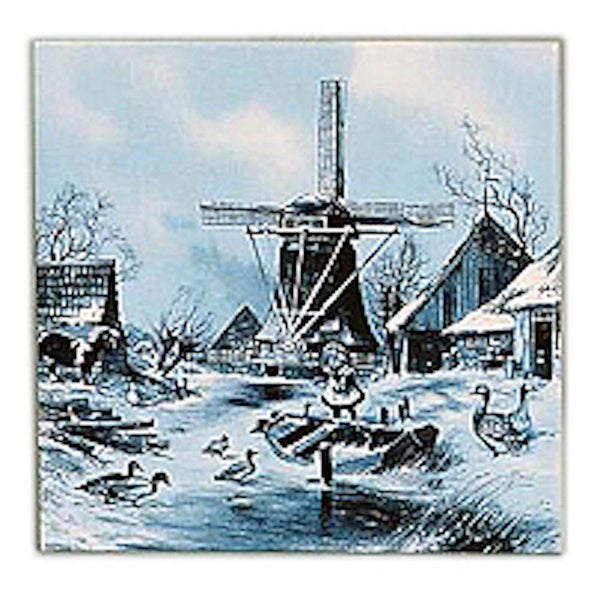 Collectible Delft Tile Four Seasons Winter - GermanGiftOutlet.com
