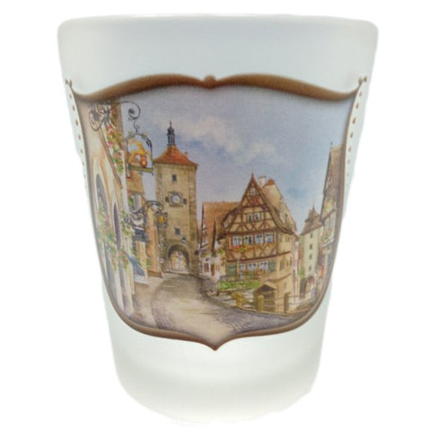 German Souvenir Shot European Village Frosted - GermanGiftOutlet.com