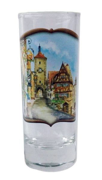 German Souvenir Shooter Village Dancers Clear - GermanGiftOutlet.com