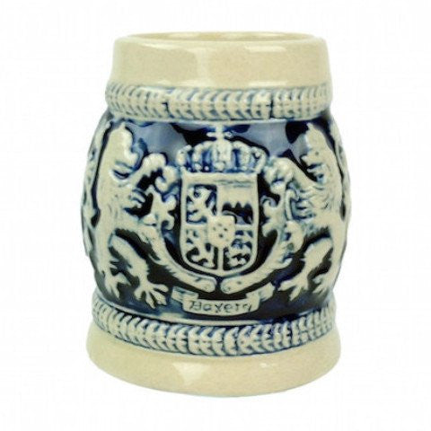 German Beer Stein Bayern Cobalt Blue Shot - GermanGiftOutlet.com  - 1