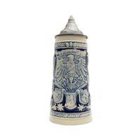 German Stein Coats of Arms Engraved w/Lid