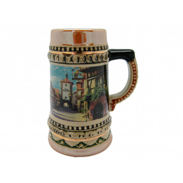 Ceramic Beer Stein German Village Scene-ST03