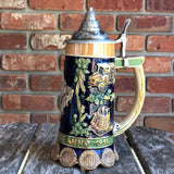 Reinheitsgebot German Beer Purity Law .85L Bier Stein w/ Lid