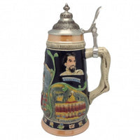 Ceramic Beer Stein Ludwig Theme w/Lid - GermanGiftOutlet.com  - 1
