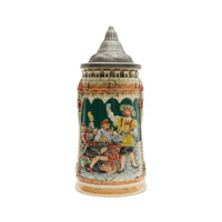 German Castle Engraved Beer Stein with Lid