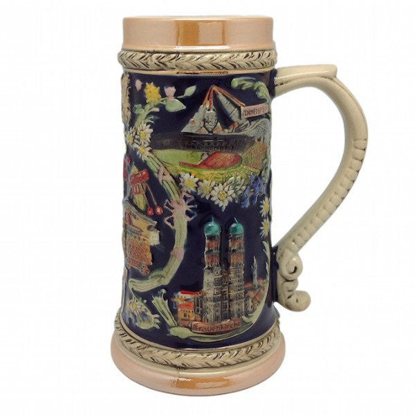 Ceramic Beer Stein Ferris Wheel no/Lid - GermanGiftOutlet.com  - 1
