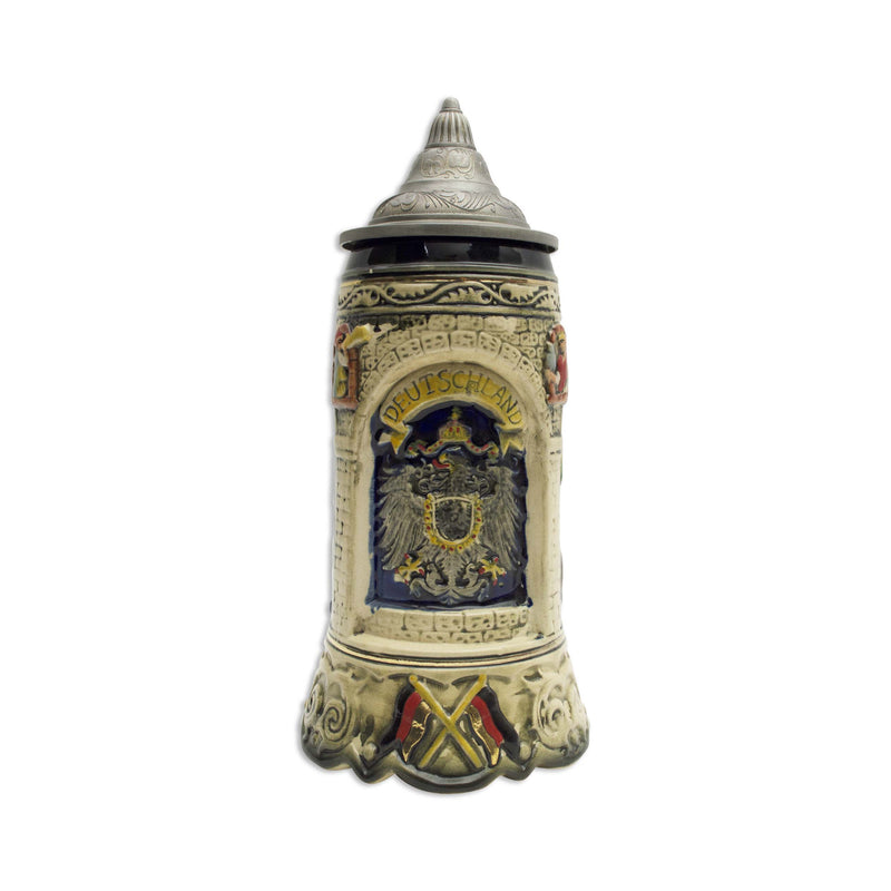Scenic Germany Engraved Collectible Beer Stein with lid