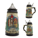 Mountain Village Beer Stein with Lid