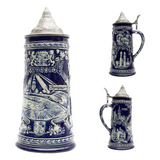 Olympia Park German Landmarks Beer Stein .85L with Metal Lid