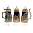 German Village Beer Stein with Lid