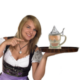German Dirndl Ceramic Stein with Lid
