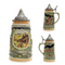 German Spring .5L Stein with Embossed Metal Lid