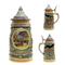 German Fall .5L Stein with Embossed Metal Lid