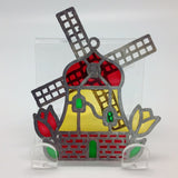Small Windmill Sun Catcher with Tulips. - GermanGiftOutlet.com  - 2
