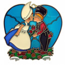 Kissing Couple in Blue Heart Shaped Sun Catcher - GermanGiftOutlet.com  - 1