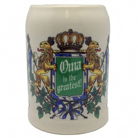 Ceramic Beer Stein German Gift For Oma - GermanGiftOutlet.com  - 1