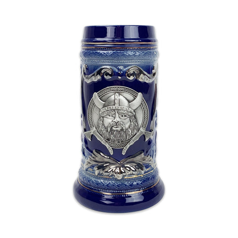 Viking Metal Medallion .75L Beer Stein with Deluxe Relief-