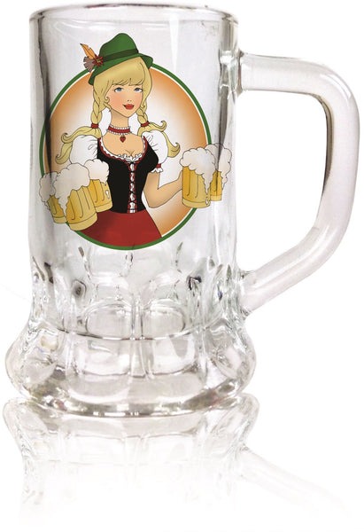 Dimpled Mug Glass Shot: Ofest Lady - 1 - GermanGiftOutlet.com