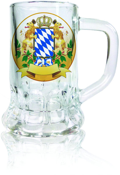 Oktoberfest Mug Shot Glass: Bayern Coat of Arms - GermanGiftOutlet.com