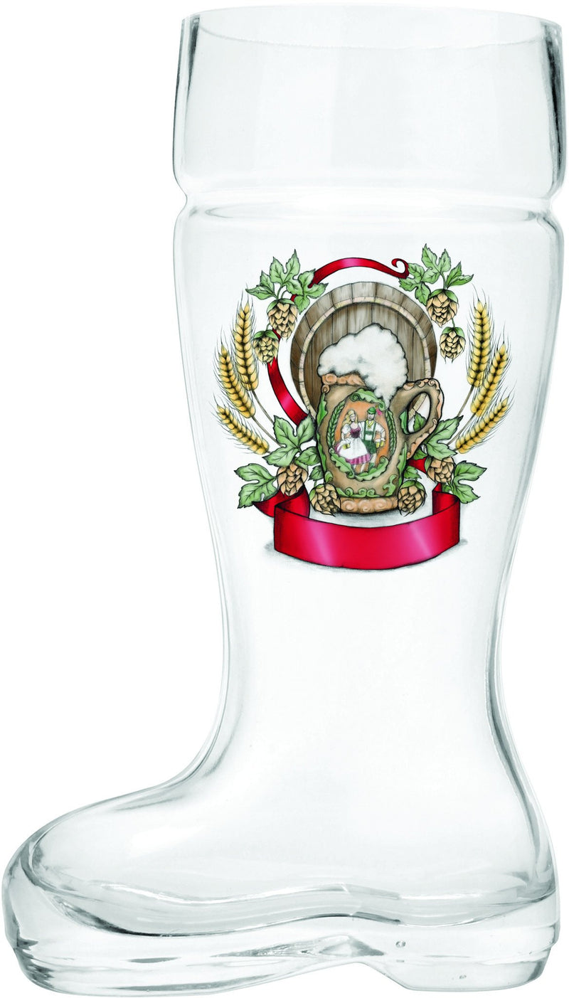 Glass Beer Boot: Harvest Crest - GermanGiftOutlet.com  - 2