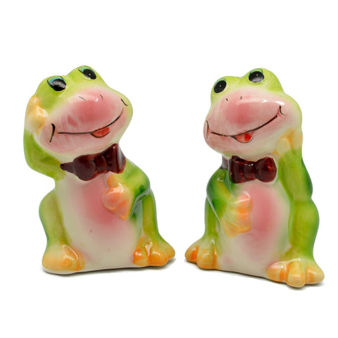 Animal Salt and Pepper Shakers Frogs Basket-SP02