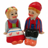 Cute Salt and Pepper Shakers Scandinavian Sitting Couple - GermanGiftOutlet.com  - 2