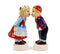 Cute Salt and Pepper Shakers Scandinavian Standing Couple-SP03