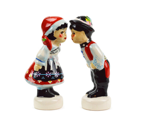 Ceramic S&P Set Czech Couple - GermanGiftOutlet.com