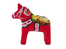 "Swedish Dala Horse Wood Figurine Red (2"") - GermanGiftOutlet.com  - 1"