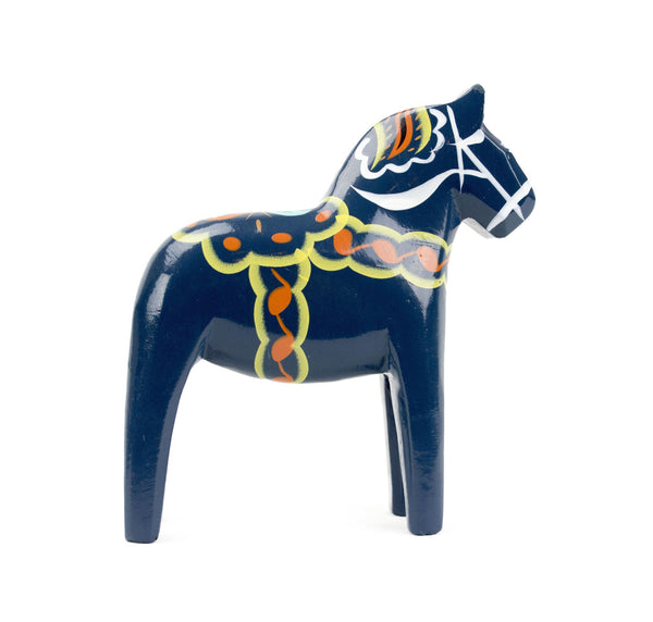 "Swedish Blue Dala Horse Blue 4"" - GermanGiftOutlet.com"