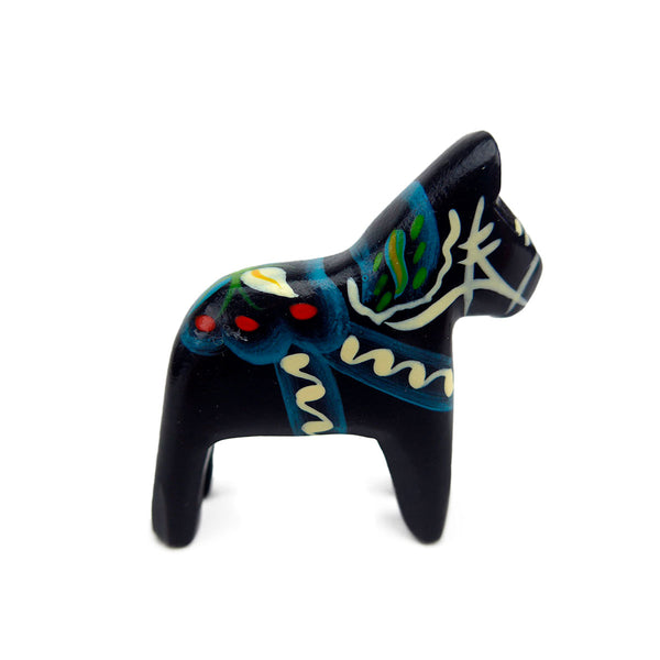 Black Wood Dala Horse-TO03