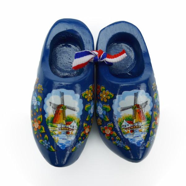 Dutch Wooden Shoes Deluxe Blue - 1.5 inches, 2.5 inches, Apparel-Costume Shoes, Apparel-Costumes, blue, CT-600, Dutch, Ethnic Dolls, Netherlands, PS-Party Favors, PS-Party Favors Dutch, Shoes, Size, Top-DTCH-B, Tulips, Windmills, wood, Wooden Shoes, Wooden Shoes-Souvenir