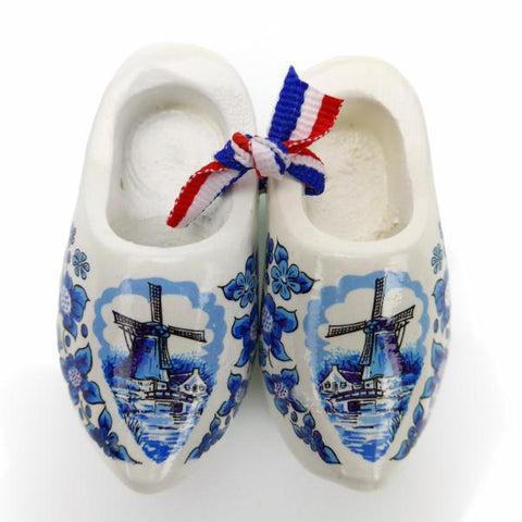 Dutch Wooden Shoes Deluxe Blue White - 1.5 inches, 2.5 inches, Apparel-Costume Shoes, Apparel-Costumes, Blue/White, CT-600, Delft Blue, Dutch, Ethnic Dolls, Netherlands, PS-Party Favors, PS-Party Favors Dutch, Shoes, Size, Top-DTCH-B, Tulips, Windmills, wood, Wooden Shoes, Wooden Shoes-Souvenir