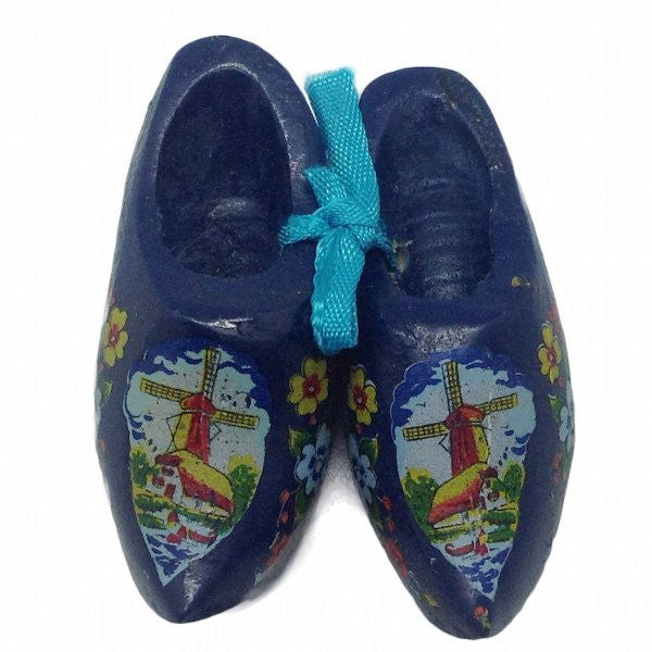 Netherlands Wooden Shoes Clogs Blue - GermanGiftOutlet.com