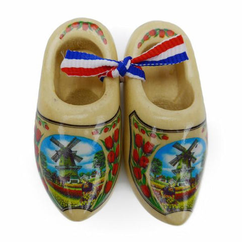 Dutch Wooden Shoes Deluxe Tulip - 1.5 inches, 2.5 inches, Apparel-Costume Shoes, Apparel-Costumes, CT-600, Dutch, Ethnic Dolls, Natural Tulip, Netherlands, PS-Party Favors, PS-Party Favors Dutch, Shoes, Size, Top-DTCH-B, Tulips, Windmills, wood, Wooden Shoes, Wooden Shoes-Souvenir
