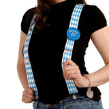 Bavarian Themed Check German Oktoberfest Costume Suspenders - GermanGiftOutlet.com  - 2