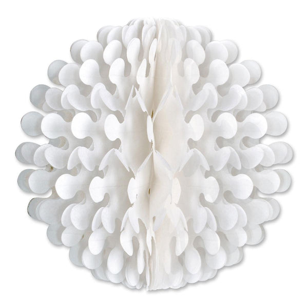 "14"" White Tissue Flutter Ball Party Decorations - GermanGiftOutlet.com"