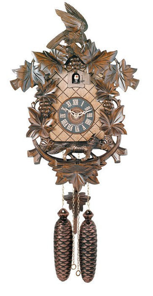 "River City Clocks Eight Day 17"" Fox and Grapes Aesop's Fable German Cuckoo Clock - GermanGiftOutlet.com"
