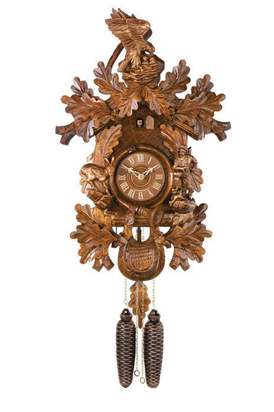 River City Clocks Eight Day Hunter Ram Eagle Crown German Cuckoo Clock - GermanGiftOutlet.com