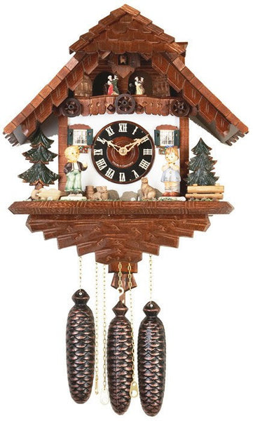"River City Clocks Eight Day Musical 15"" German Cuckoo Clock with Boy and Girl - GermanGiftOutlet.com"