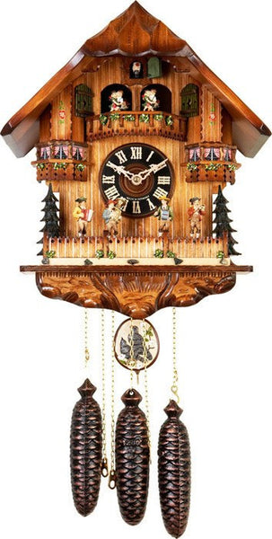 River City Clocks Eight Day Musical German Cuckoo Clock with Dancing Oompha Band - GermanGiftOutlet.com