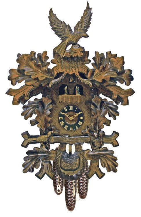 "24"" Eight Day Musical Cuckoo Clock with Dancers From River City Clocks - GermanGiftOutlet.com"