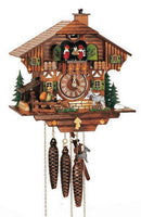 "Schneider Black Forest 11"" Musical Town Musicians of Bremen German Cuckoo Clock - GermanGiftOutlet.com"