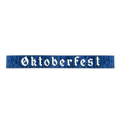 7.5 Foot Oktoberfest Fringed Metalic Banner Party Decorations - GermanGiftOutlet.com  - 1